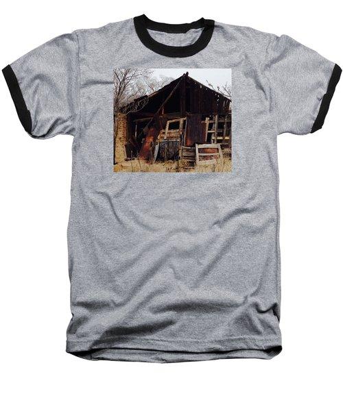 Barn Baseball T-Shirt by Erika Chamberlin
