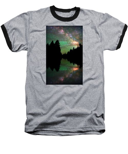 Starry Dreamscape Baseball T-Shirt