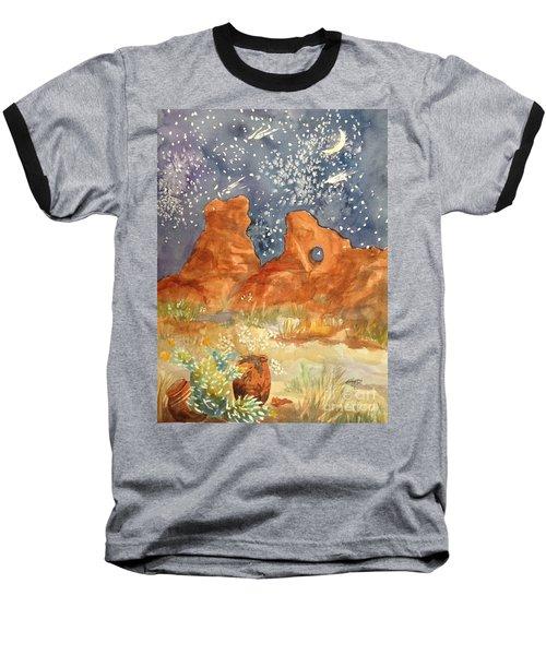 Starry Night In The Desert Baseball T-Shirt