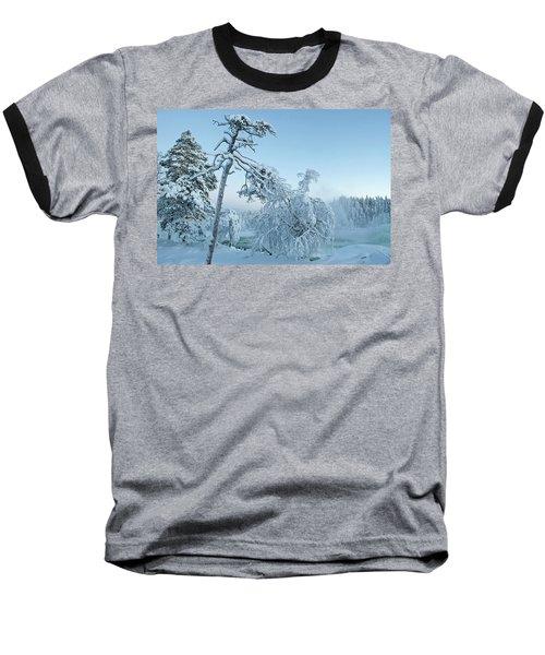 Magic Blue  Storforsen Waterfall  Baseball T-Shirt