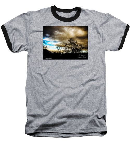 Storm  Coming  Baseball T-Shirt by MaryLee Parker