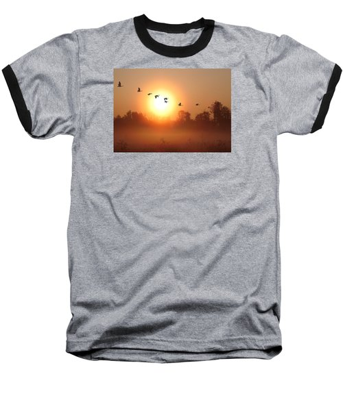 Returning South Baseball T-Shirt by I\'ina Van Lawick