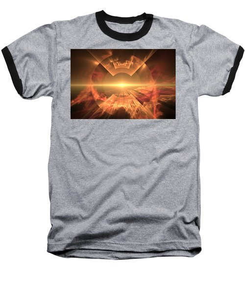 Baseball T-Shirt featuring the digital art  Supernova  by Svetlana Nikolova
