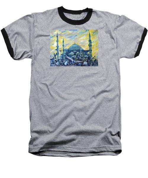 Turkey. Blue Mosque Baseball T-Shirt by Anna Duyunova