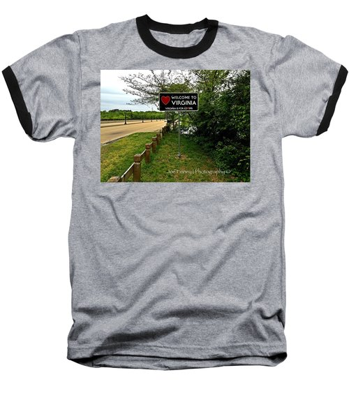 Baseball T-Shirt featuring the digital art  Welcome To Virginia  - No.430 by Joe Finney