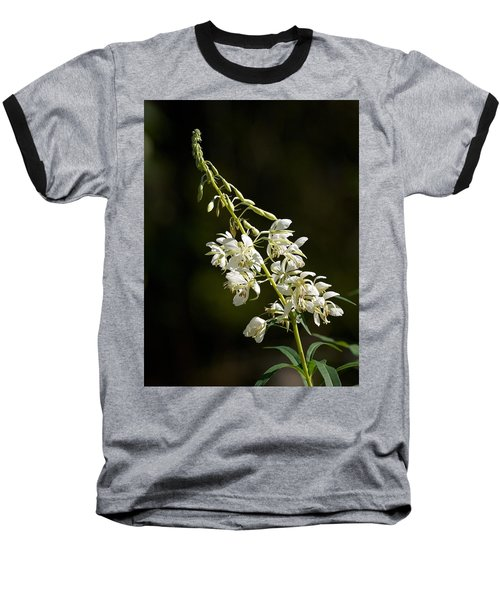Baseball T-Shirt featuring the photograph  White Fireweed by Jouko Lehto