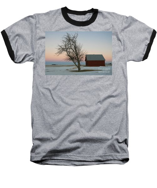 Winter In Rural America Baseball T-Shirt
