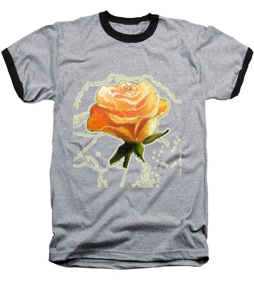 Yellow Roses Baseball T-Shirt