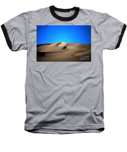 Yuma Dunes Number One Bright Blue And Tan Baseball T-Shirt