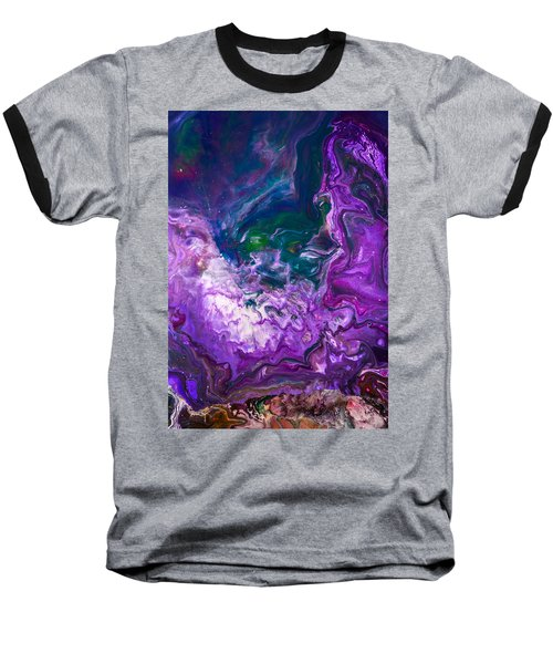 Zeus - Abstract Colorful Mixed Media Painting Baseball T-Shirt by Modern Art Prints
