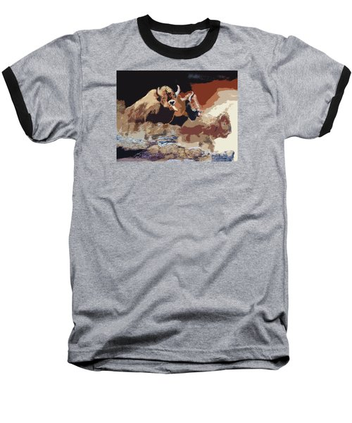 010316 Ancient Buffalo Hunt Baseball T-Shirt