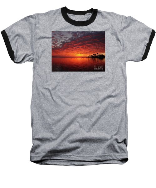0205 Awesome Sunset Colors On Santa Rosa Sound Baseball T-Shirt