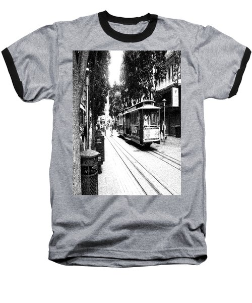 021016 San Francisco Trolly Baseball T-Shirt
