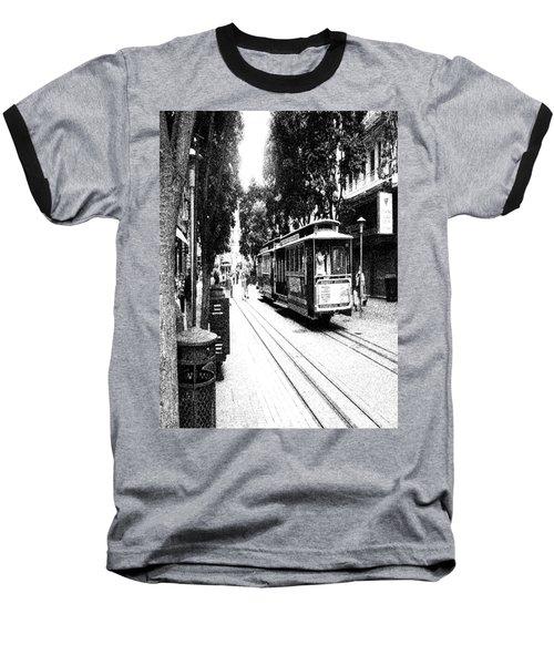 021016 San Francisco Trolly Baseball T-Shirt
