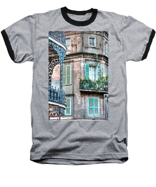 0254 French Quarter 10 - New Orleans Baseball T-Shirt