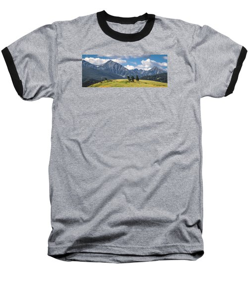 #0491 - Spanish Peaks, Southwest Montana Baseball T-Shirt