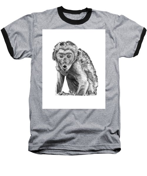 057 Madhula The Monkey Baseball T-Shirt by Abbey Noelle