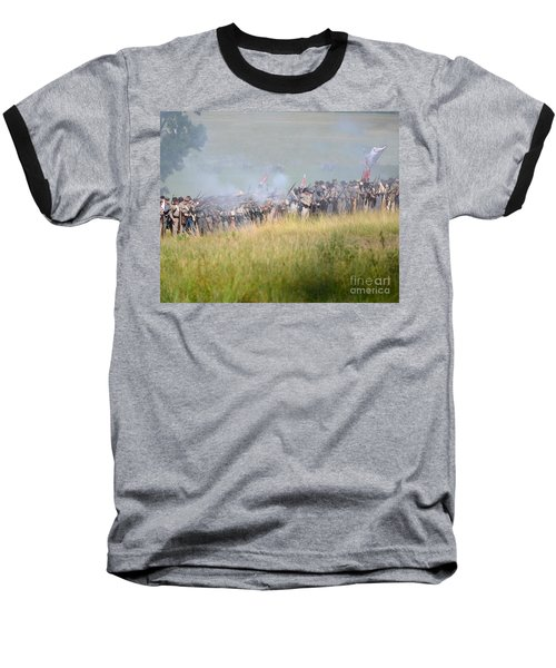 Gettysburg Confederate Infantry 7503c Baseball T-Shirt