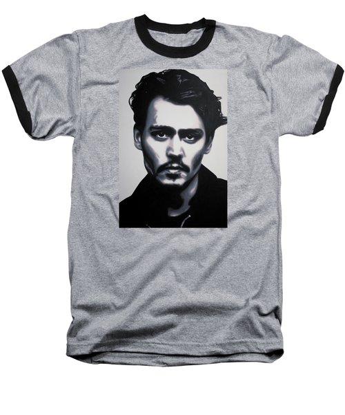 - Johnny - Baseball T-Shirt by Luis Ludzska