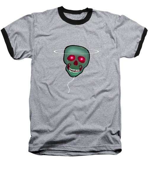 Baseball T-Shirt featuring the painting 1279 - T Shirt Skull by Irmgard Schoendorf Welch