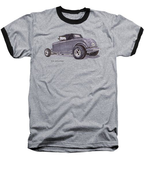 1932 Ford Hot Rod Baseball T-Shirt by Jack Pumphrey