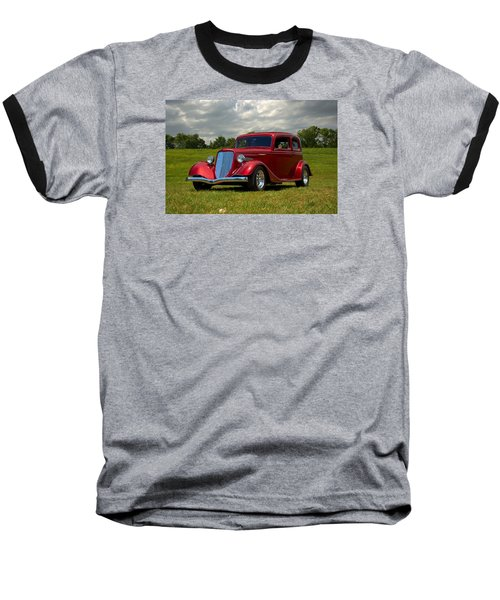 1933 Ford Vicky Hot Rod Baseball T-Shirt