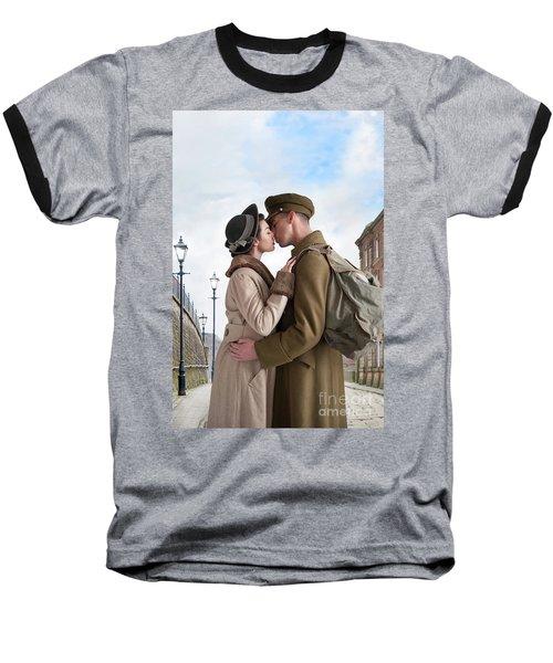 1940s Lovers Baseball T-Shirt by Lee Avison