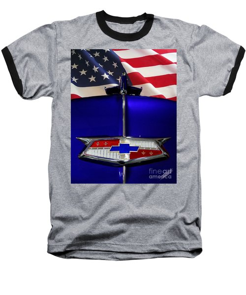 1954 Chevrolet Hood Emblem Baseball T-Shirt