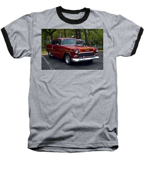 1955 Chevrolet Dragster Baseball T-Shirt