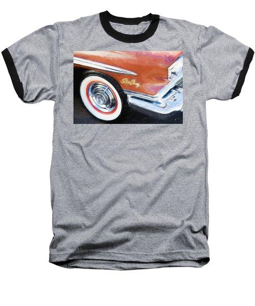 1958 Pontiac Star Chief  Baseball T-Shirt by Rich Franco