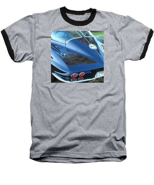 1963 Corvette Baseball T-Shirt
