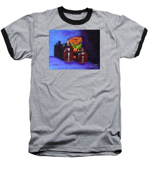 Baseball T-Shirt featuring the painting 2 Old Jugs by Melvin Turner
