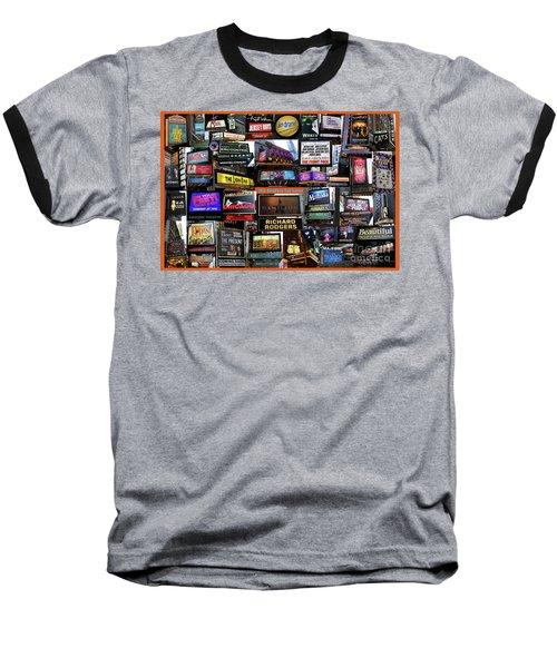 2016 Broadway Fall Collage Baseball T-Shirt