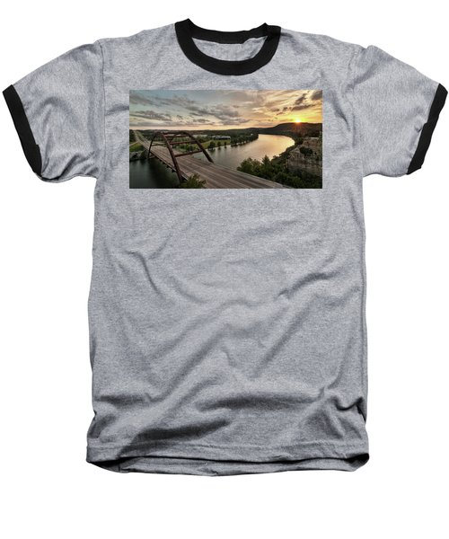 360 Bridge Sunset Baseball T-Shirt