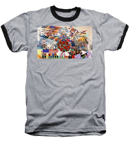 9/11 Memorial Baseball T-Shirt