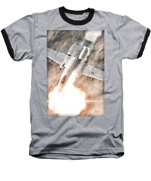 A-10 Thunderbolt II Baseball T-Shirt by David Collins