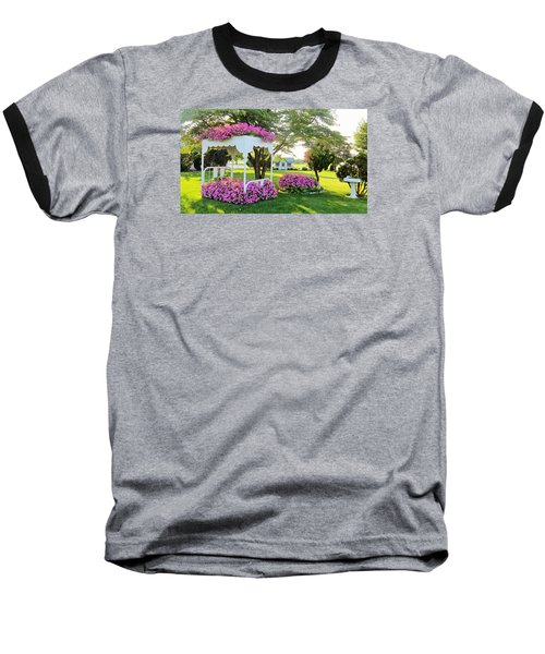 Baseball T-Shirt featuring the photograph A Bed Of Flowers by Jeanette Oberholtzer