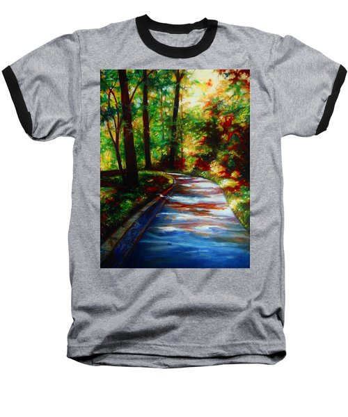 Baseball T-Shirt featuring the painting A Morning Walk by Emery Franklin