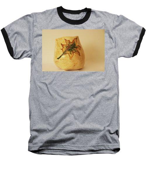 Baseball T-Shirt featuring the photograph A Pot On A Leaf by Itzhak Richter