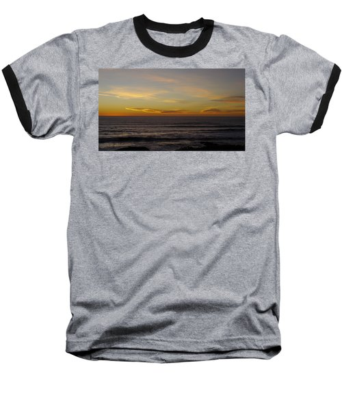 Baseball T-Shirt featuring the photograph A Sunset by Alex King