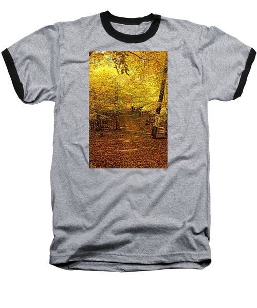 Baseball T-Shirt featuring the photograph A Walk In The Woods by Steven Clipperton