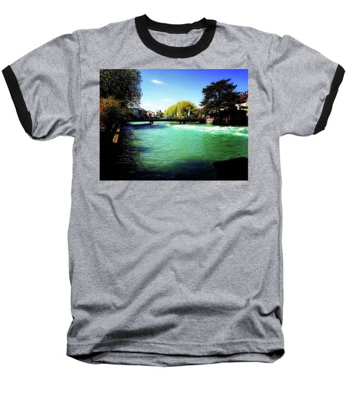 Aare River Baseball T-Shirt by Mimulux patricia no No