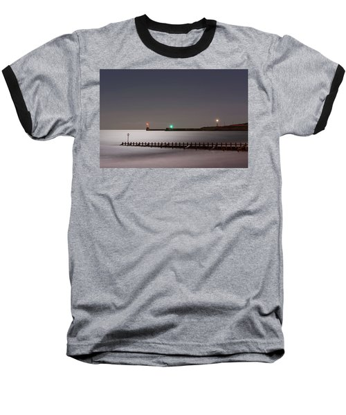 Aberdeen Beach At Night Baseball T-Shirt