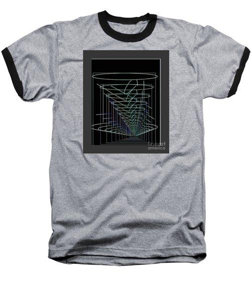 Abstract 13 Baseball T-Shirt by John Krakora