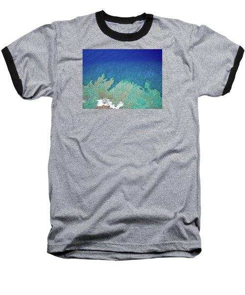 Abstract Aerial Reef Baseball T-Shirt