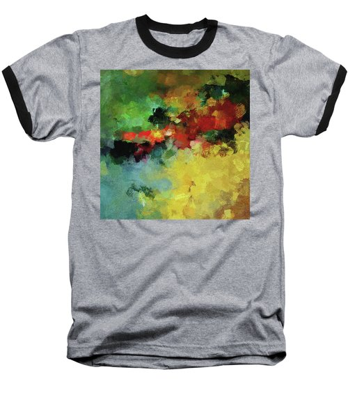 Baseball T-Shirt featuring the painting Abstract And Minimalist  Landscape Painting by Ayse Deniz