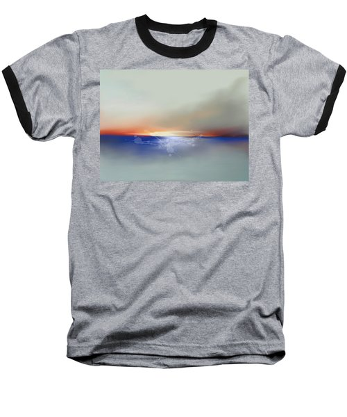 Abstract Beach Sunrise  Baseball T-Shirt by Anthony Fishburne