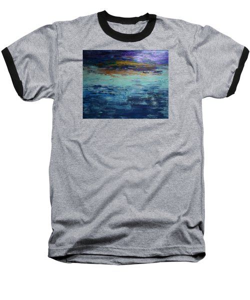 Abstract Blue Baseball T-Shirt