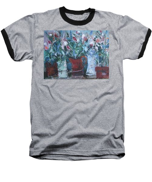 Abstract Flowers Baseball T-Shirt by Betty Pieper