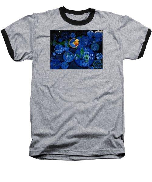 Baseball T-Shirt featuring the digital art Abstract Painting - Dark Midnight Blue by Vitaliy Gladkiy